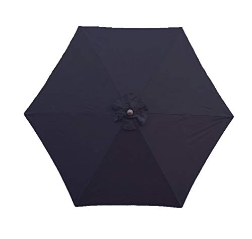 Formosa Covers 9ft Umbrella Replacement Canopy 6 Ribs in Dark Navy Olefin (Canopy Only)