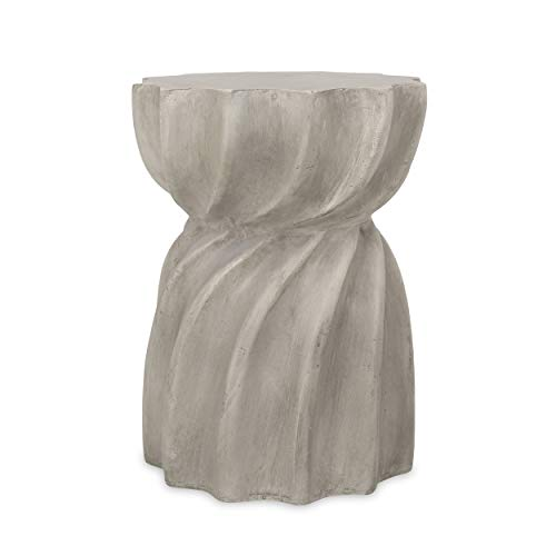 Christopher Knight Home 312768 Robin Outdoor Contemporary Lightweight Accent Side Table, Concrete...