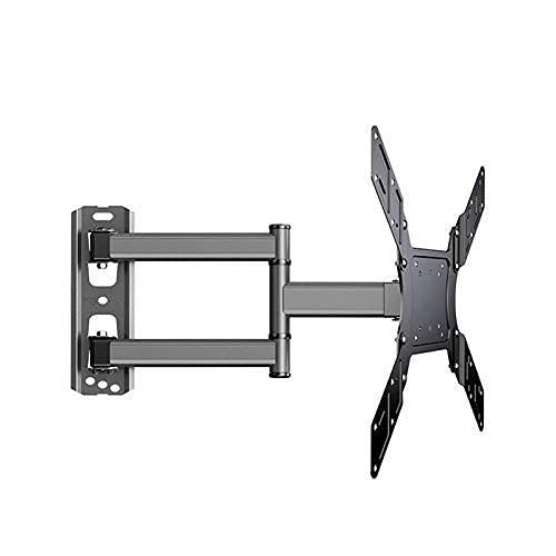 FGVBC Soporte de Montaje en Pared para TV Soporte para Marco de TV de Panel Plano 40 kg Giratorio de 90 Grados para TV LCD de 26-50 Pulgadas con Cable HDMI Gratuito (Color: Negro)
