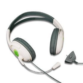 XBox 360 Large Style Headset (Earphone & Microphone) For xBox 360 Online Gaming with Foam Ear Pieces for Comfort and Adjustable Mic Arm & Volume Control by Konnect