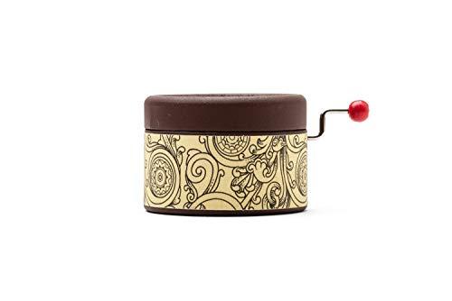 Caja de música manual color chocolate con la melodía Stand by me. El regalo perfecto para los amantes de la música.