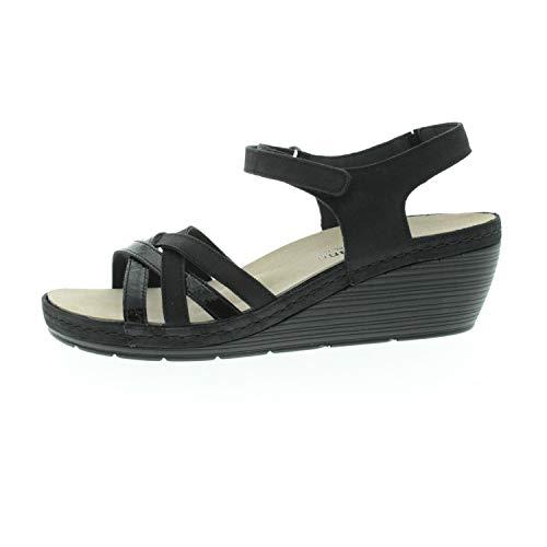 Berkemann. Damesschoenen sandalen Adina zwart lak 01221965