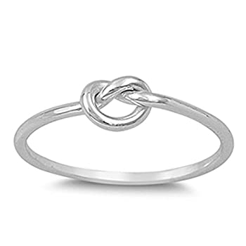 Infinity Knot Love Cute Ring New .925 Sterling Silver Band Size 10