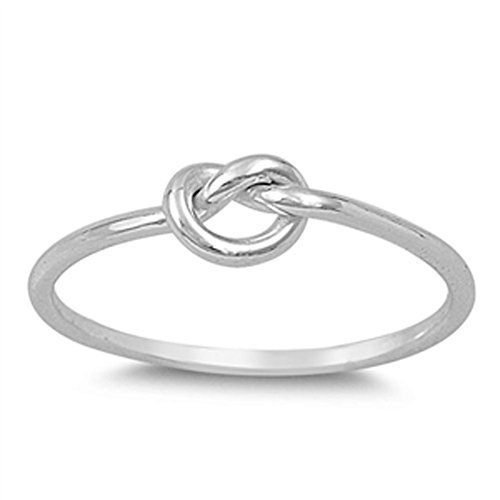 Infinity Knot Love Cute Ring New .925 Sterling Silver Band Size 6