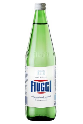 Fiuggi Still Natural Water Case of 6 x 1 Lt Glass Bottles