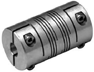 Stainless Steel Ruland FCR16-6-4-SS Clamping Beam Coupling 1//4 Bore B Diameter 1 OD Inch 33 lb-in Nominal Torque 1-1//2 Length 3//8 Bore A Diameter