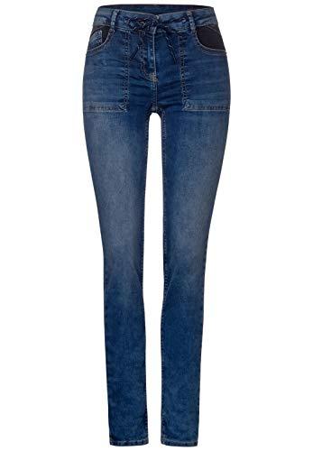 Cecil Damen B373438 Jeans, Mid Blue Wash (Blau), W28/L32