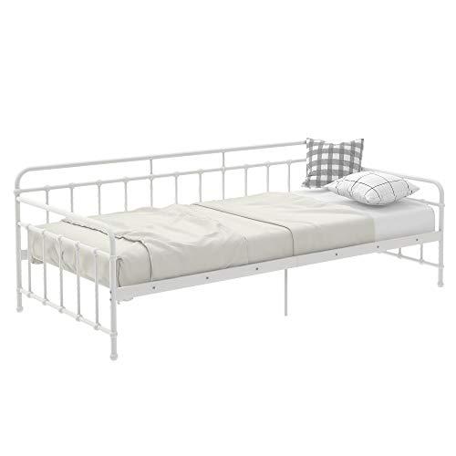 Tagesbett Metallbett Bettrahmen Bettsofa mit Lattenrost Schlafzimmer Wohnzimmer kleine Räume 90 * 200 cm
