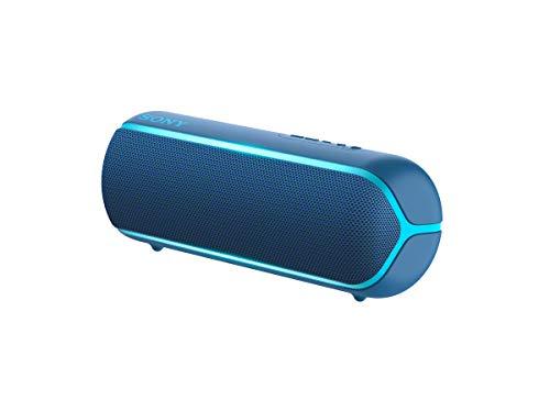 Sony SRS-XB22L - Altavoz inalámbrico portátil (Bluetooth, Extra Bass, diseño portátil, batería hasta 12h, Sonido Live Sound, Party Booster, Luces, Resistente al Agua y Polvo IP67) Azul
