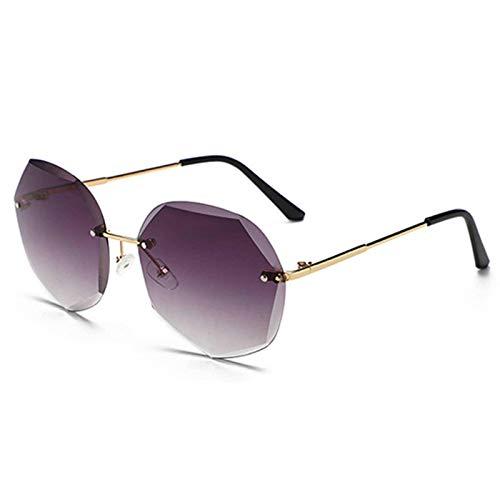 N\C Rimless - Gafas de sol para mujer, diseño de moda, diseño clásico, de aleación
