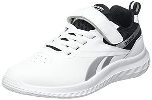 Reebok Rush Runner 3.0 Syn, Zapatillas de Running, Blanco/Negro/Plamet, 30 EU