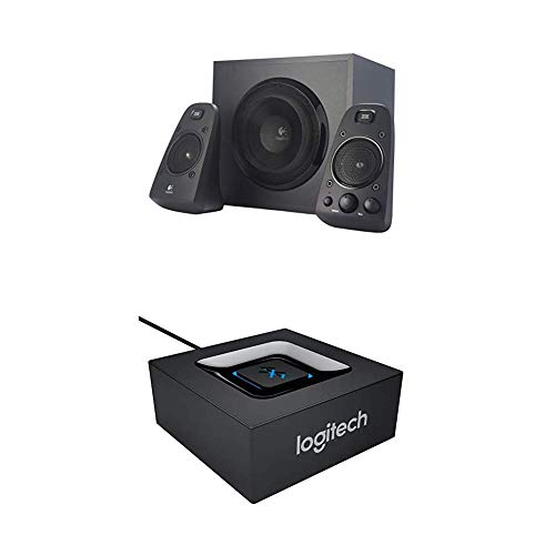 Logitech Z623 Soundsysteme 2.1 Stereo-Lautsprecher THX (mit Subwoofer) schwarz + Logitech Bluetooth Audio Adapter schwarz