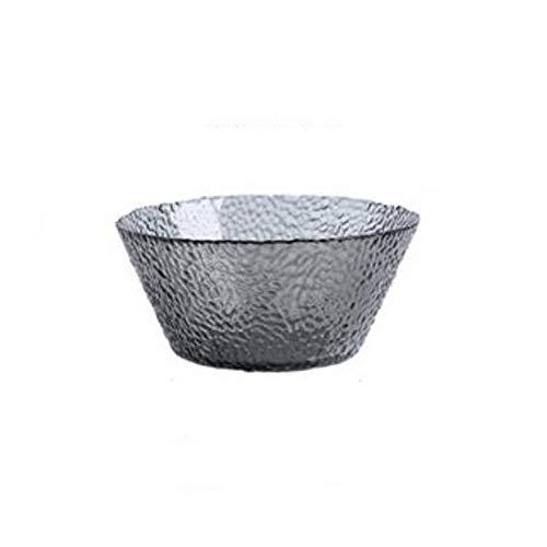 Heigmzw Bol Desayuno Anti-fragmentación de vidrio transparente tazón de vidrio individual, creativo, personalidad, sombrero, vajilla grande, vajilla, ensalada, cuenco 21 * 9.5 cm, gran capacidad, tazó