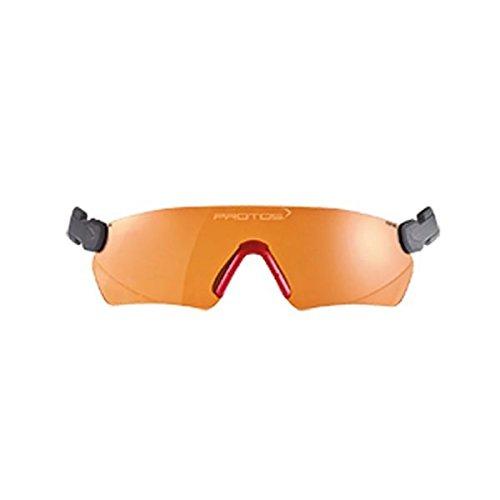 Protos integrale Schutzbrille für Helmsystem, Farbe:orange