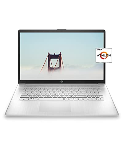 HP 17 Laptop, AMD Athlon Silver 3050U, 4 GB RAM, 256 GB SSD Storage, 17.3-inch HD+ Display, Windows 10 Home with Added Security, Long Battery Life, Dual Speakers, HD Web-Camera (17-cp0010nr, 2020)