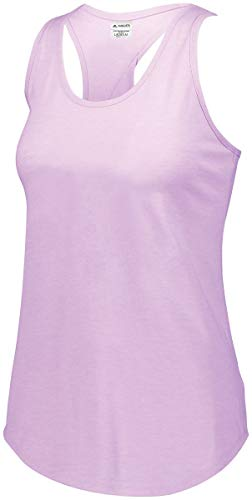 Augusta Sportswear Womens Lux Tri-Blend Tank, Light Lavender Heather, 2XL
