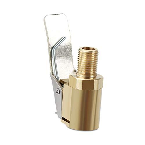 ooege 1 unid Coche Auto latón 8 mm Rueda Rueda Rueda neumático Chuck hinchador válvula Bomba Clip Clip Conector Adaptador Accesorios de Coche (Color : A)