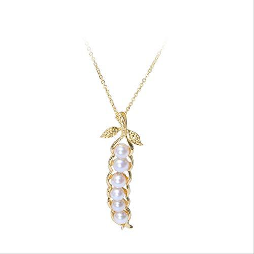 Varitystore Primavera y verano guisantes frescos Ins moda mujer exquisito colgante collar de cadena de clavícula estilo