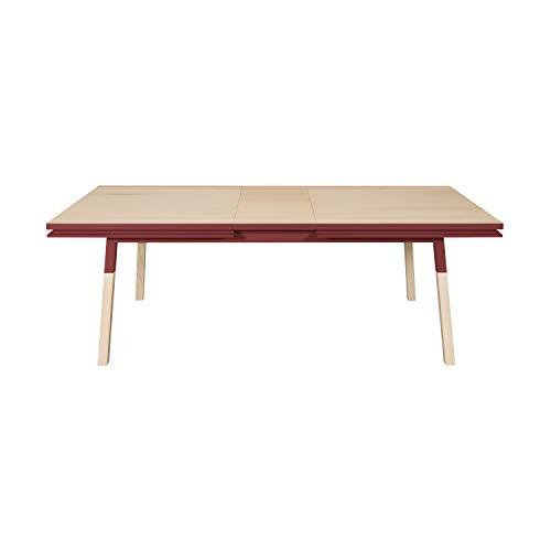 Mon pequeño mueble francés - Mesa de comedor rectangular de madera maciza, diseño escandinavo – 100% fabricado en Francia