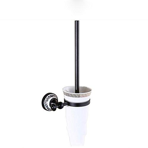 Noir rétro salle de bains accessoires salle de bains tablette brosse de toilette Rollsnownow