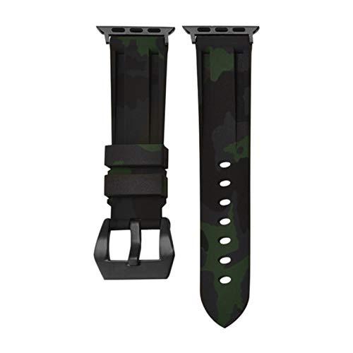 Correa de reloj de camuflaje de silicona para Apple Watchband 42mm 44mm 38mm 40mm Correa de reloj Pulsera para iWatch Series 5 4 3 2 1