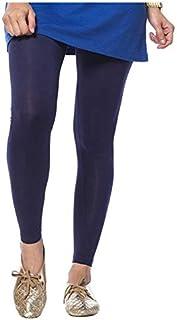 VVVAS American Apparel Women's Cotton Spandex Ancle Lengh Leggings - Navy Blue