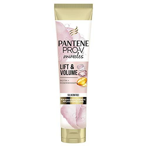 Pantene Acondicionador Pro-V Miracles Lift & Volume sin silicona, con biotina + agua de rosa, 160 ml, belleza, cuidado del cabello, acondicionador, sin silicona, volumen, pelo grueso, pelo largo