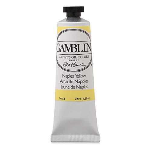 Gamblin Naples Yellow Hue Artist Oil 37Ml, Single Tube
