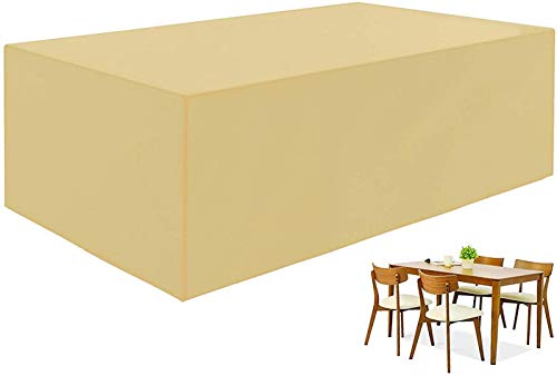 Garden Protective Cover,Garden Furniture Covers, Waterproof Patio Furniture Cover, 420D Heavy Duty Oxford Fabric Table Covers Rattan Furniture Set Cover, Anti-UV Windproof Snow for Patio, Cube