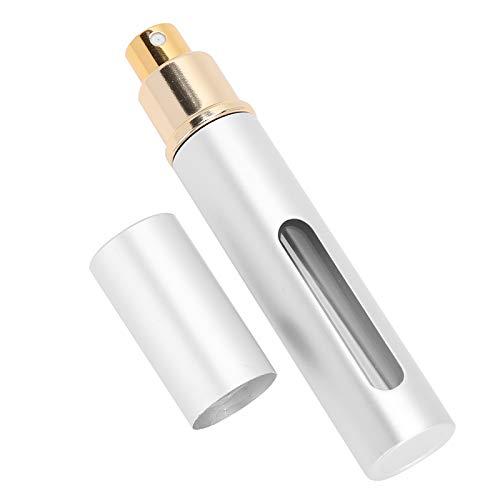BTER Botella de Aerosol de Vidrio, Conveniente para Usar Botellas de Aerosol Vidrio para atomizadores de habitación para aceites Esenciales para ambientadores para perfumes(AB048Y Silver)