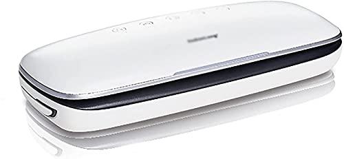 Electrodomésticos Máquina de sellado al vacío Máquina de sellado de vacío para el hogar Máquina de envasado de alimentos Máquina de sellado de empaque (color: blanco, tamaño: 37.5x15x7.2cm) (Color: Bl