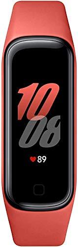 SAMSUNG Galaxy Fit2 Rojo con acelerómetro, giroscopio, Monitor de frecuencia cardíaca, Monitor de Entrenamiento, Pantalla AMOLED de 1,1', batería de 159 mAh [Versión española] (Reacondicionado)