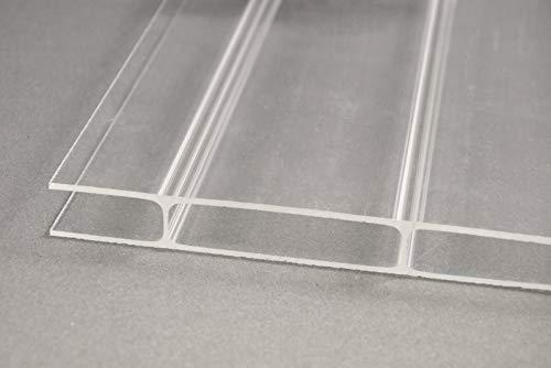 Acryl-Stegplatten Plexiglas® 16mm, klar, 64mm Stegabstand, No Drop Beschichtung 980mm x 2000mm (B x T)