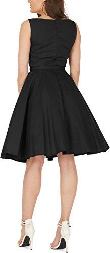 Black Butterfly 'Audrey' Vintage Clarity Kleid im 50er-Jahre-Stil (Schwarz, EUR 36 – XS) - 6