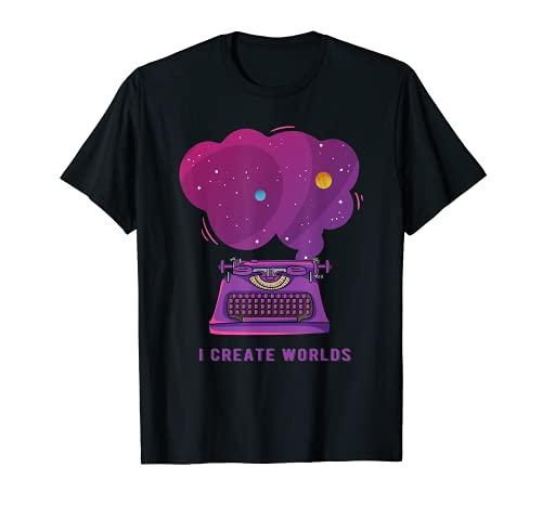 Schriftsteller Schreibmaschine Weltall Weltraum Buch Autor T-Shirt