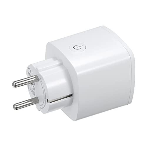 Voupuoda - Enchufe inteligente de 16 A, enchufe inteligente, enchufe WIFI para el hogar, enchufe inteligente, enchufe, aplicación, control remoto, sincronización, encendido/apagado, monitoreo de