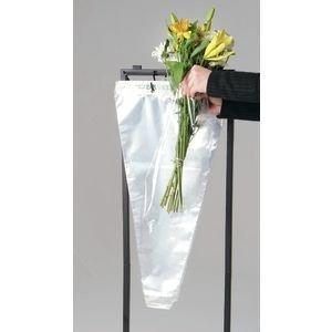 Flower Bouquet Unprinted 37 Micron Clear Cellophane Bags Plastic Sleeve Bag 50 Pcs (6X16X1)