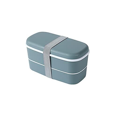 NSQQ Caja de Almuerzo para niños con Doble Capa Contenedor de Alimentos Caja sellada Bento Caja de plástico Material de plástico Frigorífico Fresco Caja de Mantenimiento 602 (Color : 04)