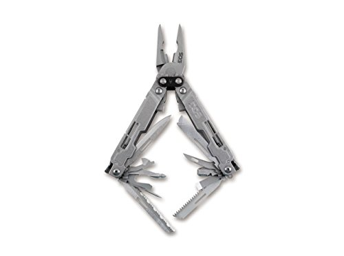 SOG Erwachsene POWERACCESS Deluxe Sheath + HEX KIT Multitool, Silber, One Size