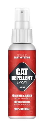 Saint Nutrition Katzenfernhaltespray für Innen und Außen - STOPP bleib Weg - Katzen ABWEHR Spray – Antikatzenspray