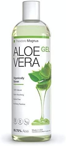 Organic Cold Pressed Aloe Vera Gel Great for Skin and Hair Sun Burn Relief Moisturizing Dry product image