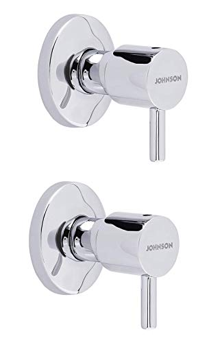 JOHNSON T2915C Ruby Brass 20mm Concealed Stop Cock With Wall Flange For Bathroom Fittings - || 10 Year Warranty || Chrome Finish...