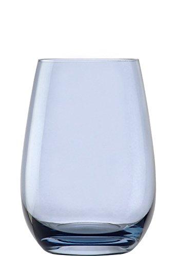 Stölzle Lausitz Elements Becher in blaugrau, 465 ml, 6er Set Gläser, spülmaschinenfest, Bunte Trinkbecher, hochwertige Qualität