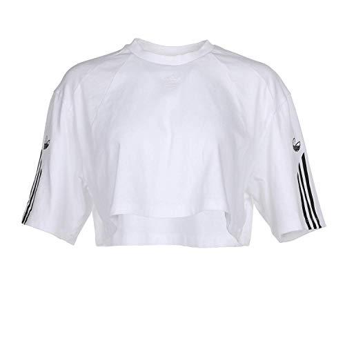 adidas Originals Camiseta de mujer Crop - blanco - Small