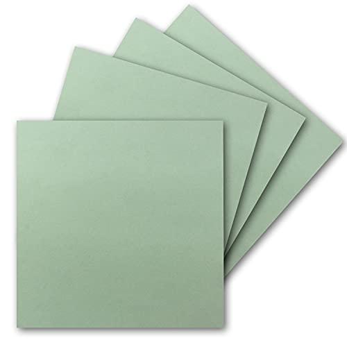 200 tarjetas individuales cuadradas – 15 x 15 cm en eucalipto – 240 g/m² – Tarjetas en blanco para manualidades, postales, cartón para manualidades en papel de arcilla de calidad