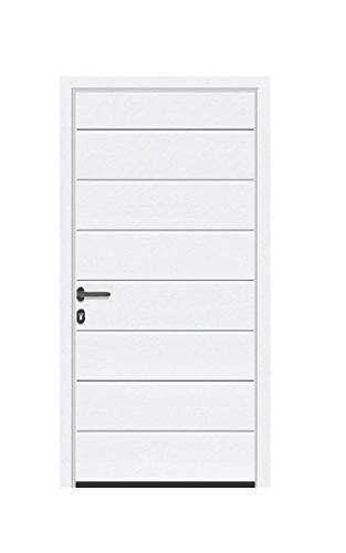 Aluminium Garagen Nebentür - M-Sicke - Dämmung - Ansichtsgleich zu Sektionaltoren (bis 1200 x 2100 mm, Anthrazitgrau RAL 7016)