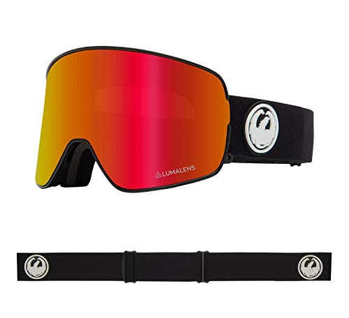 Dragon NFX2 Snow Goggles One Size Black ~ LumaLens Red Ion