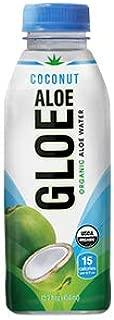 Aloe Gloe Organic Aloe Water, Coconut, 15.2-Ounce (Pack of 12)