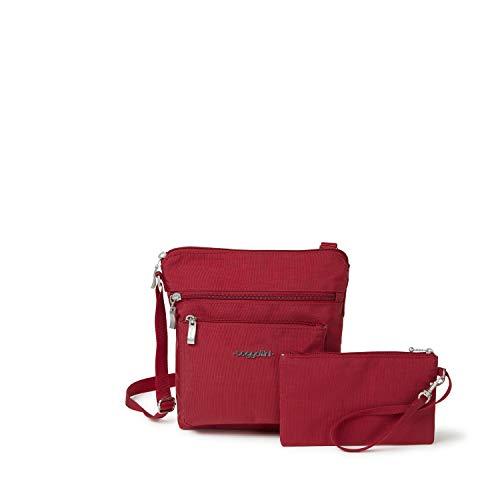 Baggallini Pocket Crossbody Bag With RFID-Protected Wristlet, Apple