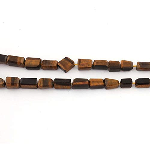 World Wide Gems Big Halloween Sale 1 Strand Brown Tiger Eye Faceted Center Drill Briolettes - Nugget Beads 10mmx8mm-21mmx13mm 16 inches long SB2228